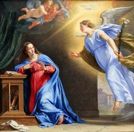 Resultado de imagem para Imagem do anjo gabriel com nossa senhora - no evangelho quotidiano